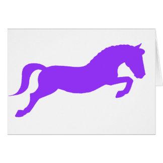 Purple Jumping Pony Card