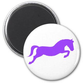 Purple Jumping Pony Magnet