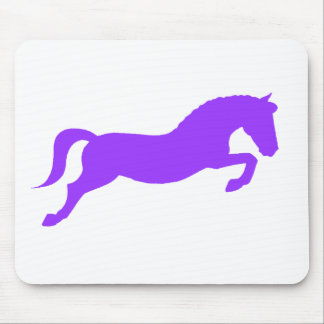 Purple Jumping Pony Mouse Pad