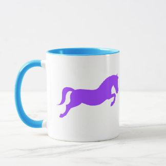 Purple Jumping Pony Mug