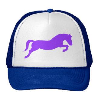 Purple Jumping Pony Trucker Hat