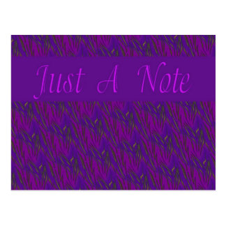 Purple Just A Note Postcard