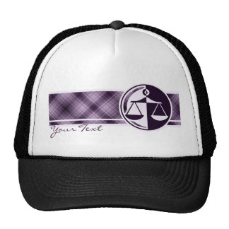 Purple Justice Scales Trucker Hat