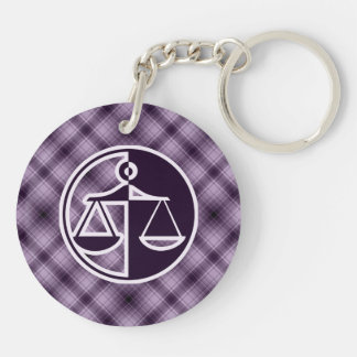 Purple Justice Scales Keychain