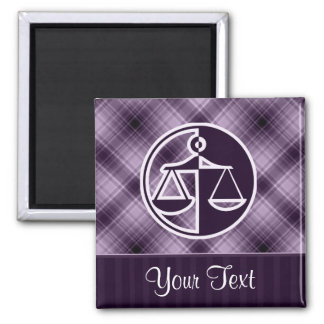 Purple Justice Scales Magnet