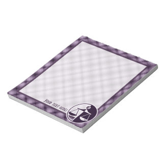 Purple Justice Scales Memo Note Pads