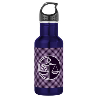 Purple Justice Scales 18oz Water Bottle