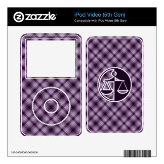 Purple Justice Scales iPod Video 5G Skins