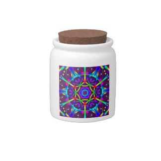 Purple Kaleidoscope Candy Jar