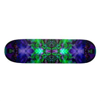 Purple kaleidoscope flower pattern skateboard