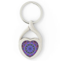 Purple Kaleidoscope Keychain