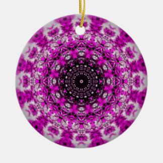 Purple kaleidoscope ornament