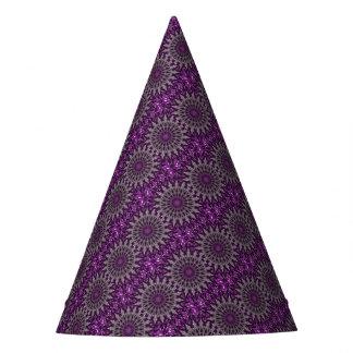 Purple Kaleidoscope Party Hat