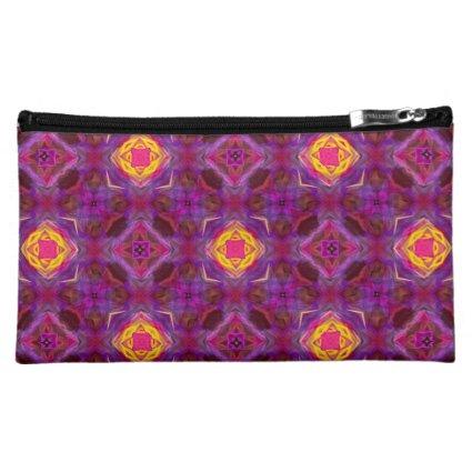 Purple Kaleidoscope Pattern Hippie Art Cosmetic Bags