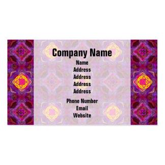 Purple Kaleidoscope Pattern Hippie Art Business Card