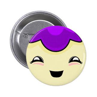 Purple Kawaii Tickle Monster Button