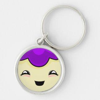 Purple Kawaii Tickle Monster Key Chains