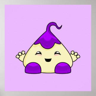Purple Kawaii Tickle Monster Posters