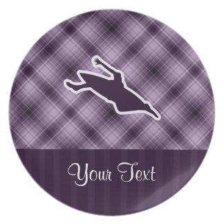 Purple Kayaking Party Plate