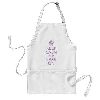 Purple Keep Calm and Bake On Apron