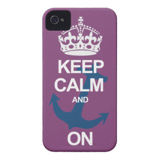 Purple Keep Calm & Carry On Sailng iPhone Case