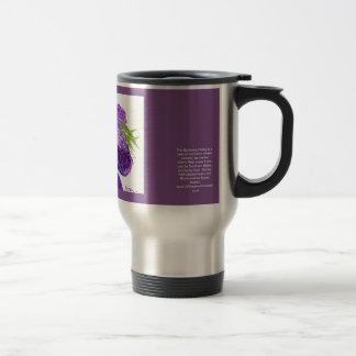 Purple Kentucky Derby Hat Travel Mug
