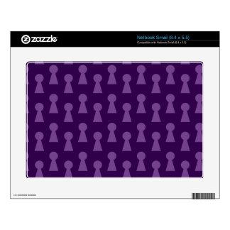 Purple keyhole pattern netbook decals