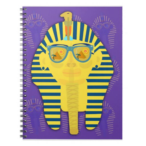 Purple King Tut with Sunglasses Notebook