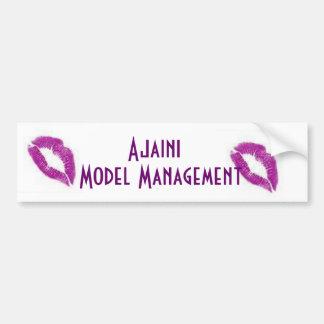 purple kisses, purple kisses, Ajaini, Model Man... Bumper Sticker