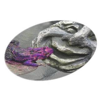 Purple Kissing Toad Melamine Plate