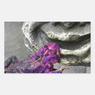 Purple Kissing Toad Rectangular Sticker
