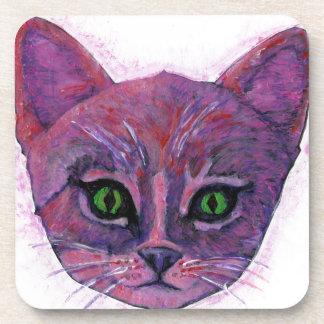 PUrple Kitten Coaster