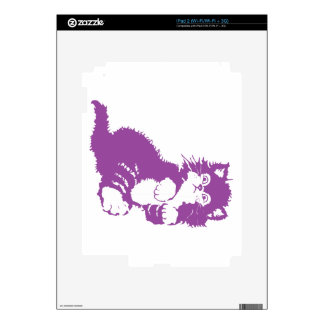 Purple Kitten Decals For iPad 2