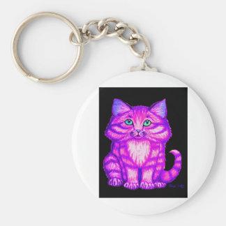 Purple Kitten Keychain