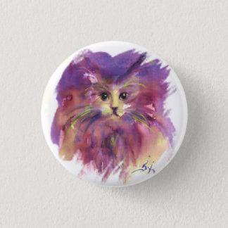 PURPLE KITTEN ,KITTY CAT PORTRAIT BUTTON
