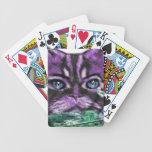 Purple Kitty Bicycle Poker Deck