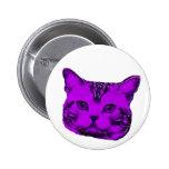 purple kitty button