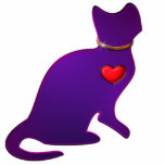 "Purple Kitty Cat Statuette<br><div class=""desc"">Purple Kitty Cat</div>"