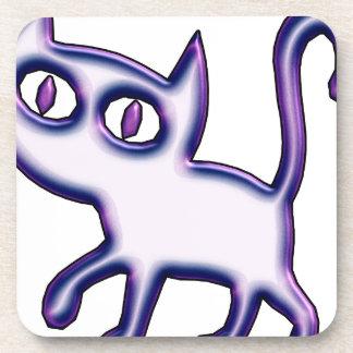 Purple Kitty Coaster