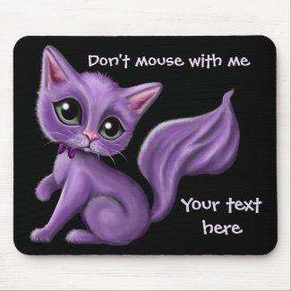 Purple Kitty Custom Mousepad