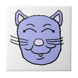 Purple Kitty Face Tile