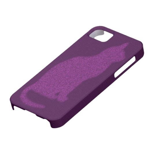 Purple Kitty iPhone Case