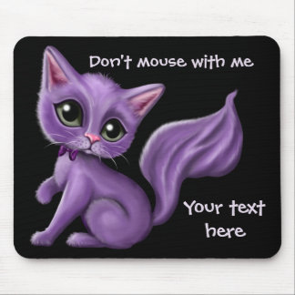 Purple Kitty Mouse Pad