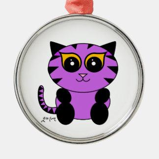 Purple Kitty Ornament