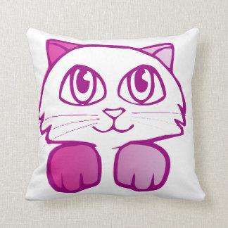 Purple Kitty Pillow