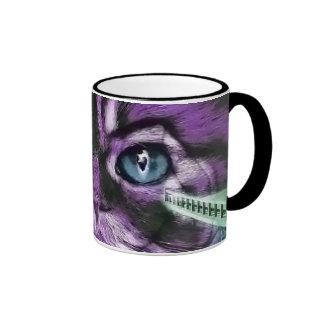 Purple Kitty Ringer Mug