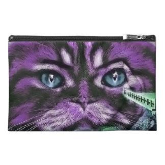 Purple Kitty Travel Accessory Bag