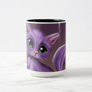 Purple Kitty Two-Tone Mug
