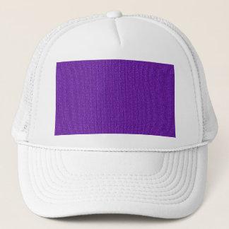 Purple Knit Stockinette Stitch Pattern Trucker Hat