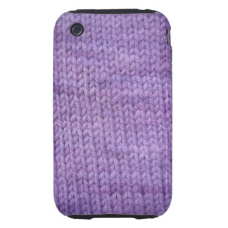 purple knit tough iPhone 3 cover